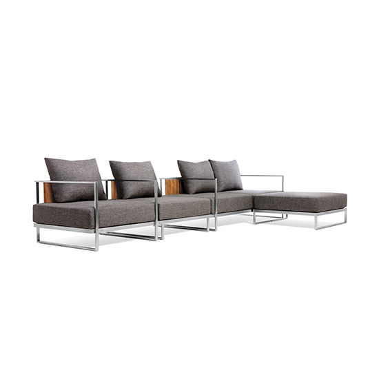 Absorption Double Sofa 2 Seat 1 Arm 3